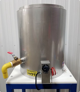 20 Gallon Sloped Bottom Jacketed Tank