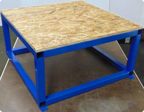 Extra Large Tank Stand shown with custom wood top (Not Included) Stock has HDPE Top